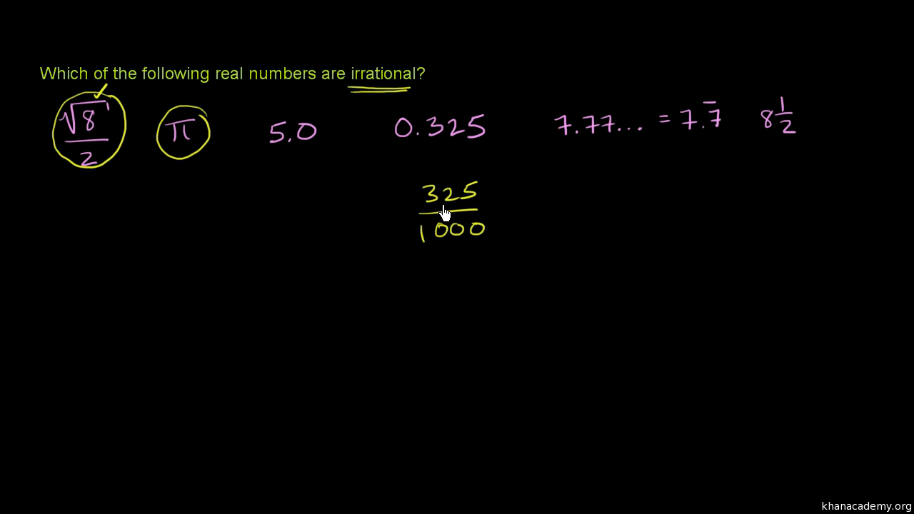 classifying numbers review article khan academy