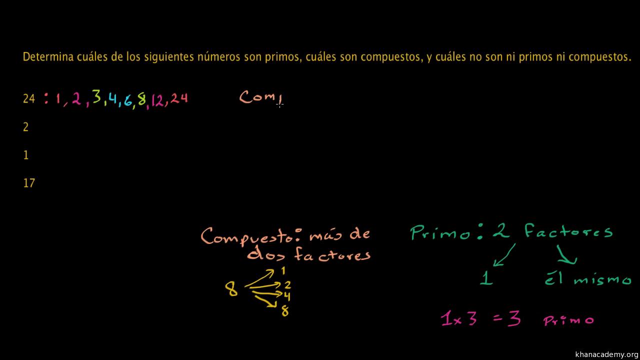 Identifica números primos (practica) | Khan Academy