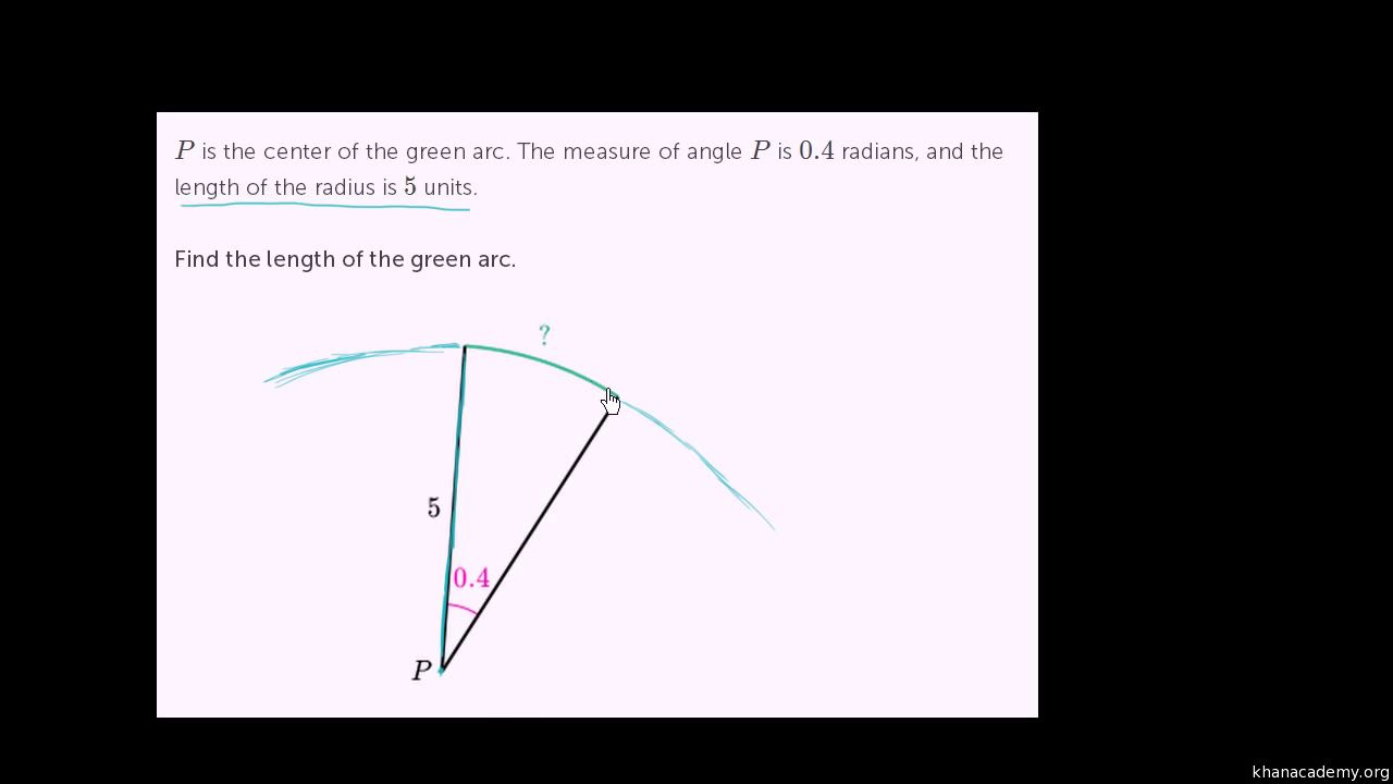 how to work out the radius length
