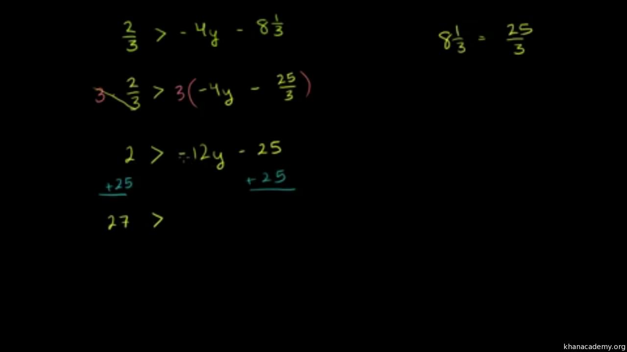 Lineare Gleichungen und Ungleichungen | Algebra - Grundlagen | Khan ...