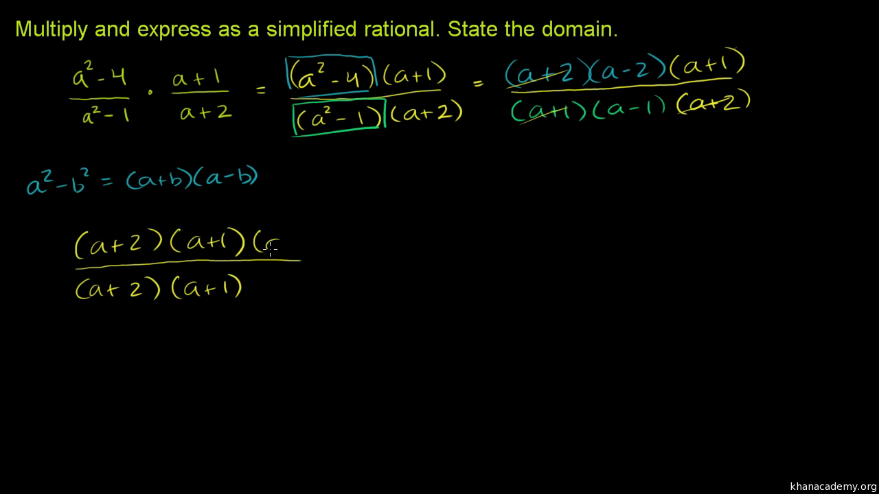 Multiplying Rational Expressions: Multiple Variables (video)  Khan Academy