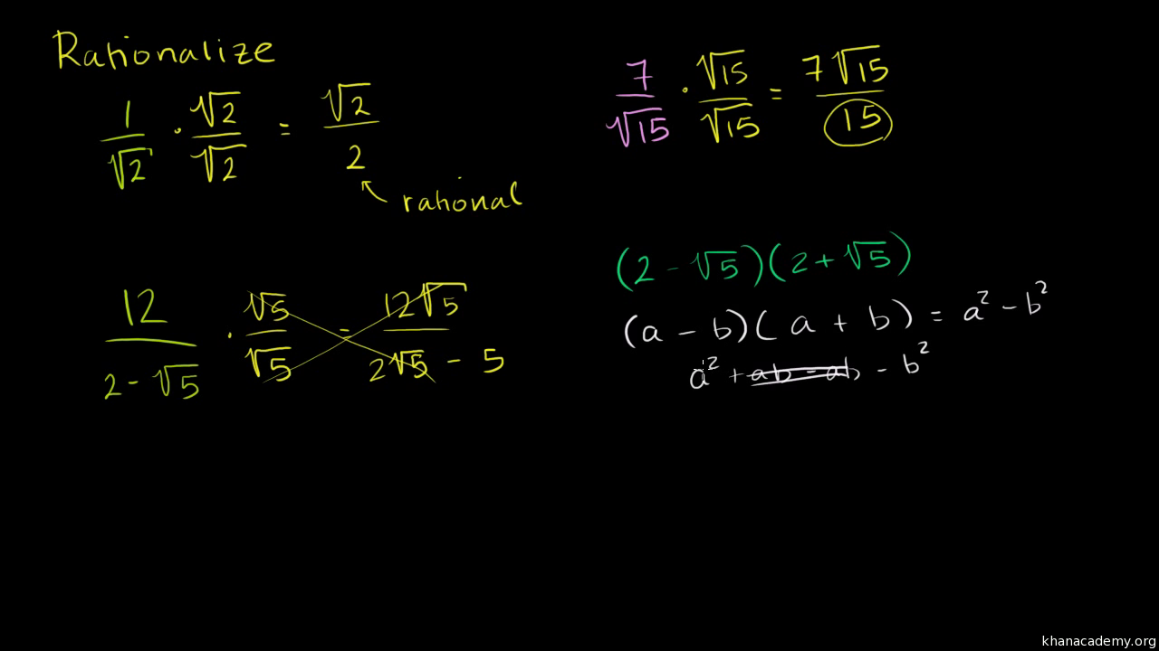 Simplifying Radical Expressions (addition)  Algebra (video)  Khan Academy