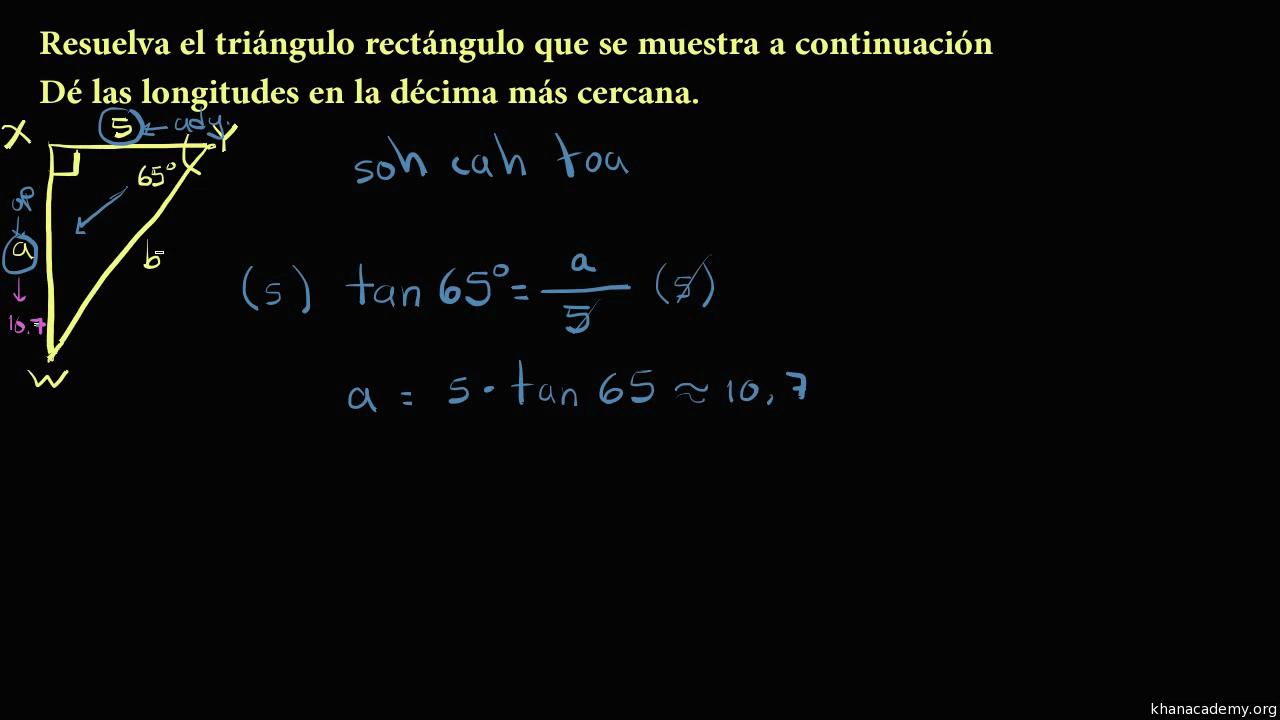 Trigonometría con triángulos rectángulos | Matemáticas | Khan Academy