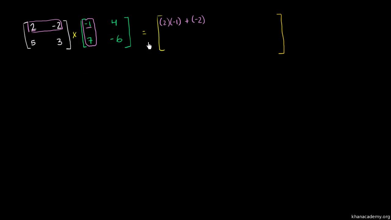 Intro to matrix multiplication video khan academy biocorpaavc