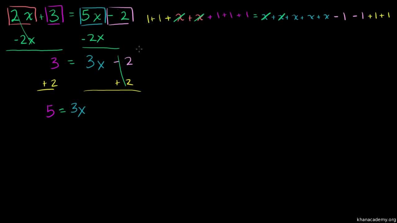 Ecuaciones con variables en ambos lados (practica) | Khan Academy