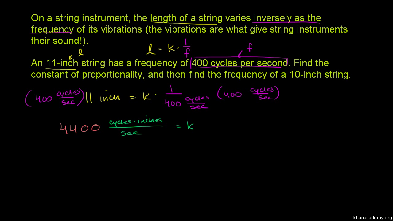 Proportionality Constant For Direct Variation Video Khan Academy