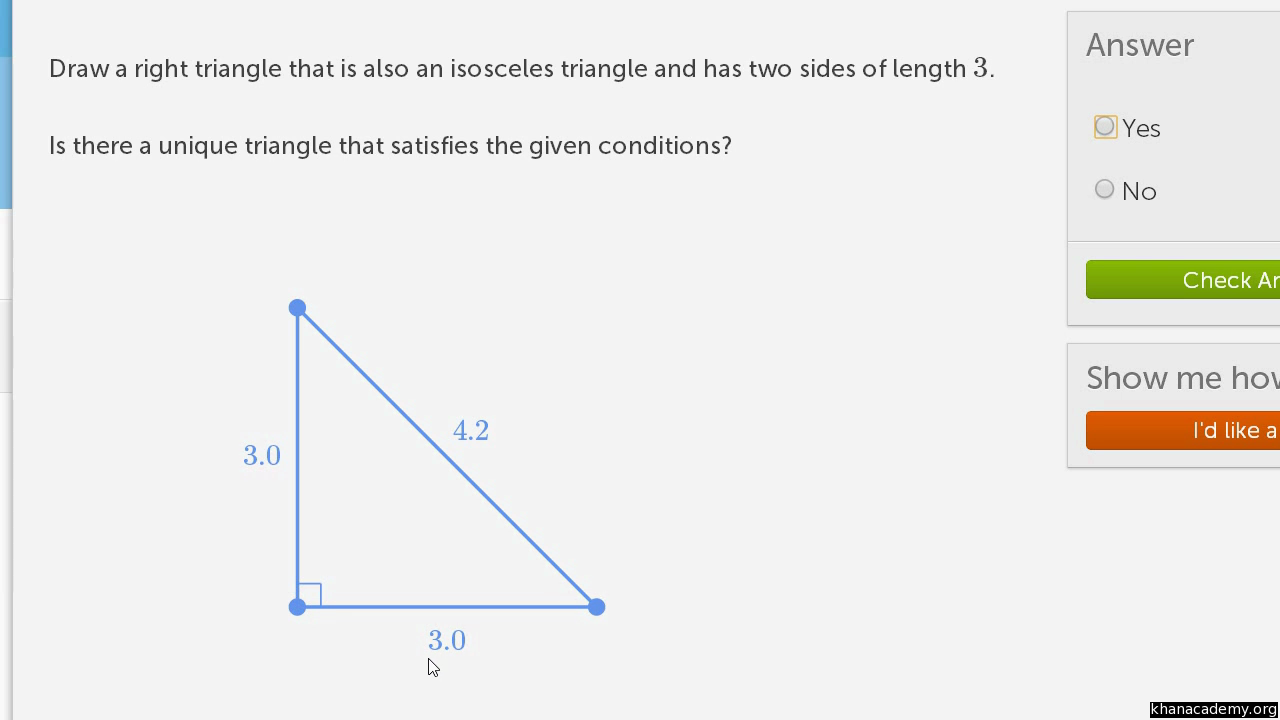 worksheet Isosceles Triangles Worksheet constructing triangles practice geometry khan academy