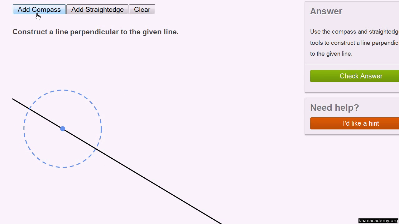 Drawing Parallel Lines With A Compass : Draw parallel and perpendicular lines maths