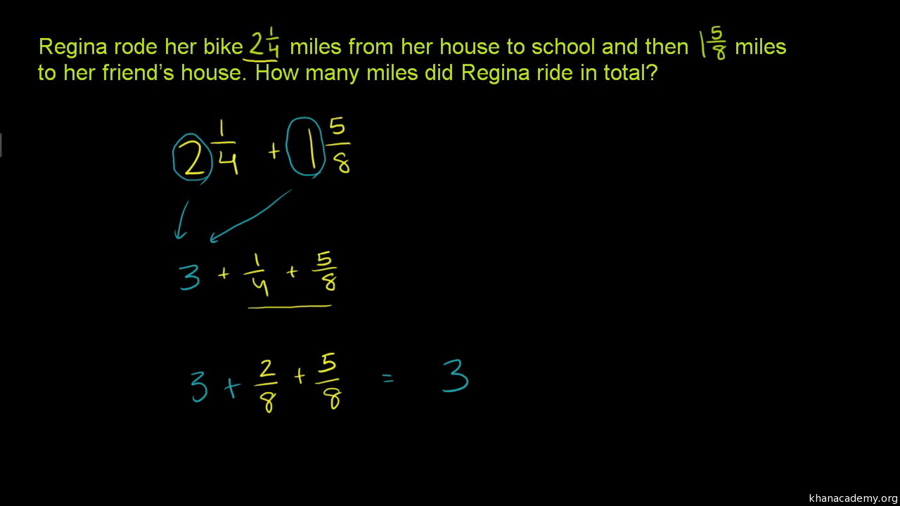 Worksheet Add Fractions With Different Denominators how to add fractions that have different denominators video khan academy