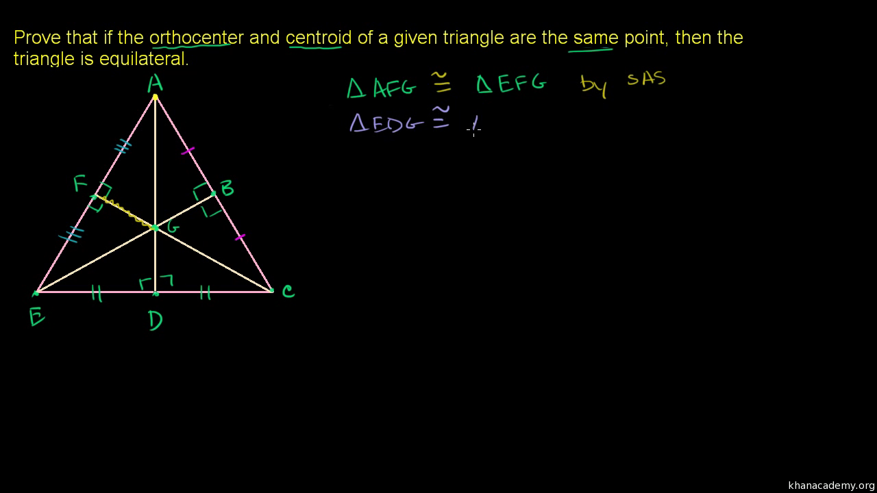 Proof: Triangle Altitudes Are Concurrent (orthocenter) (video)  Khan  Academy