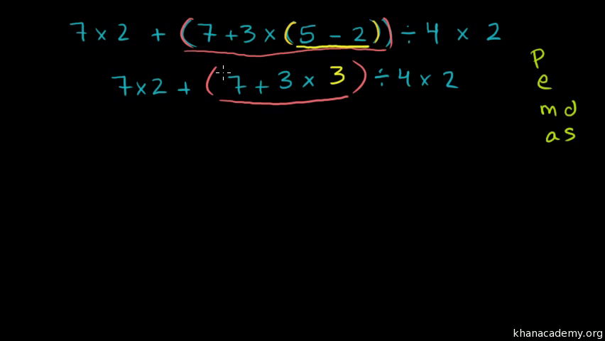 Intro To Order Of Operations Video Khan Academy