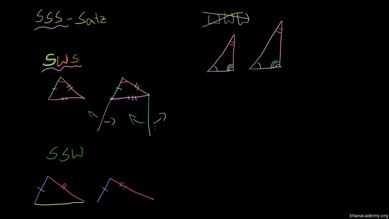 Bestimme kongruente Dreiecke (Übung) | Khan Academy