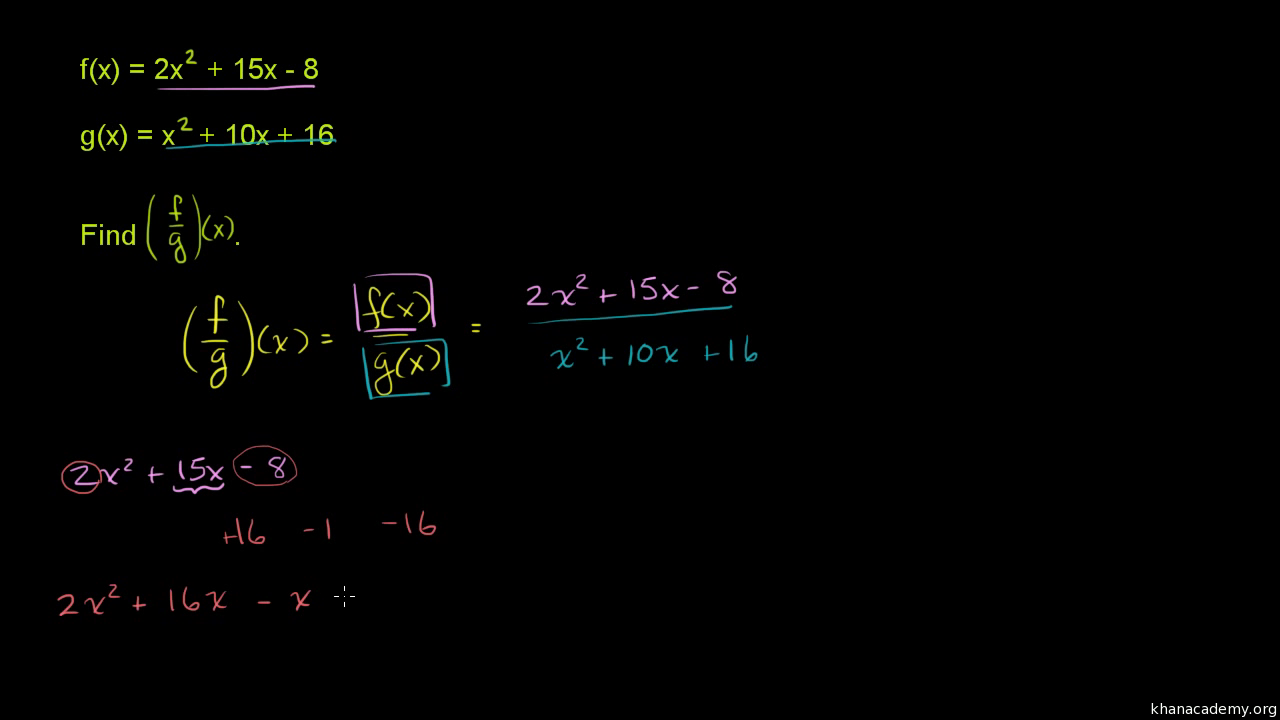 Multiplying and dividing functions article