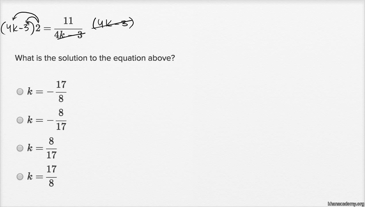 Isolating quantities Basic example video – Sat Math Prep Worksheets