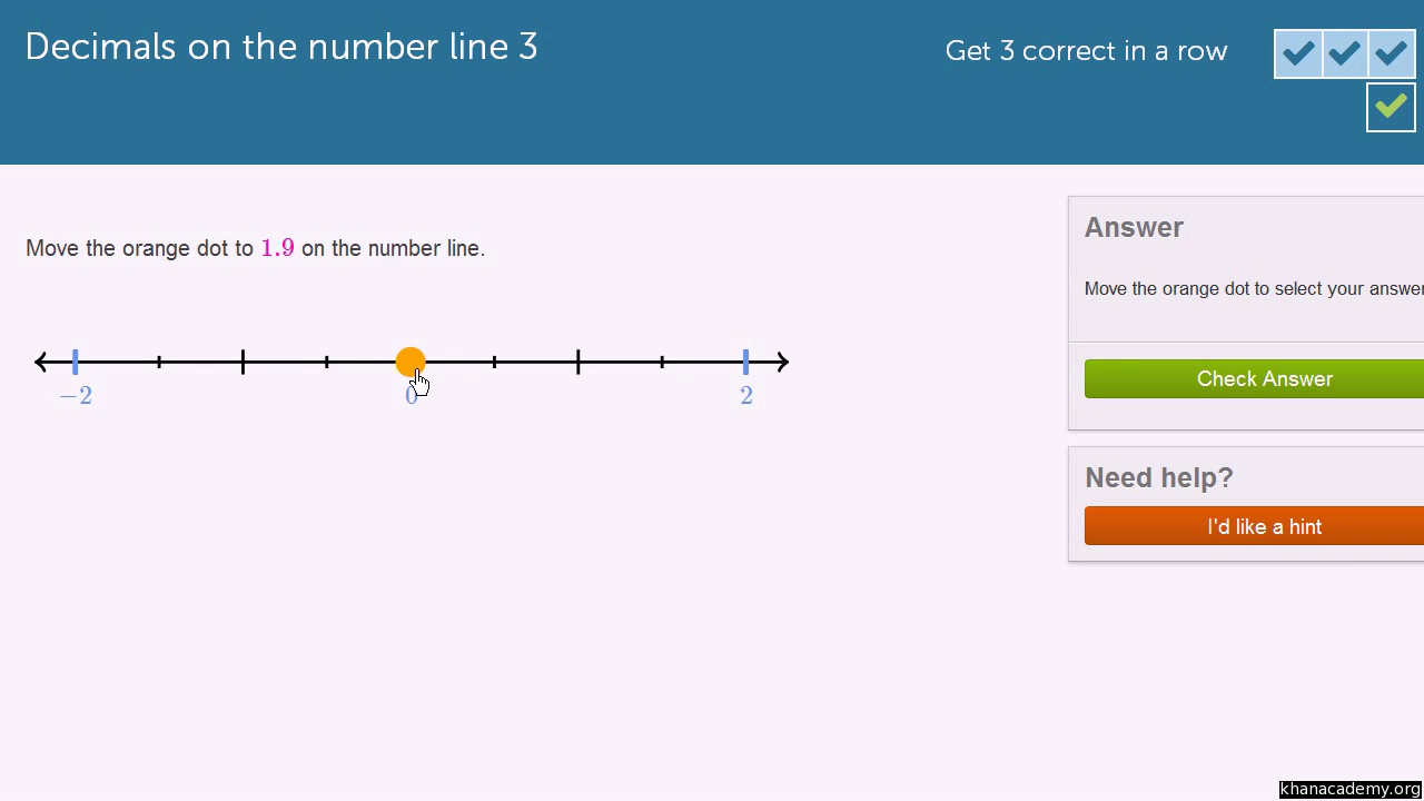 Negative decimals on the number line video khan academy robcynllc Image collections