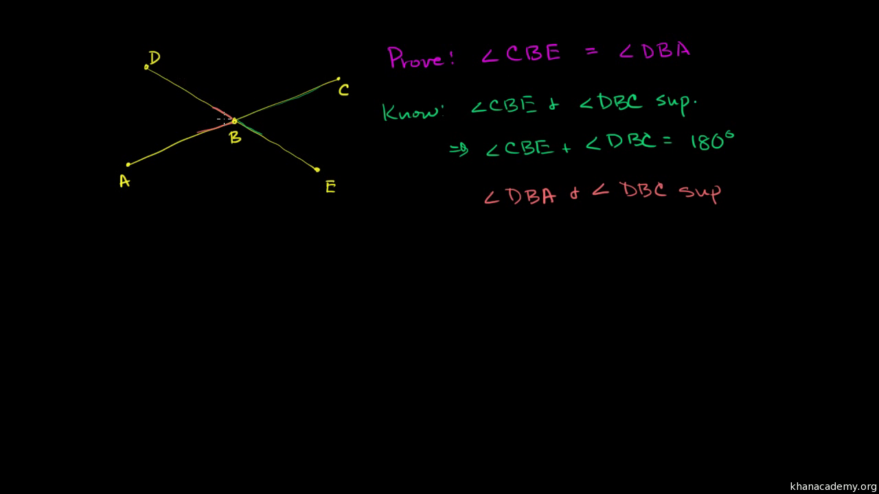 Angle Relationships Example Video Angles Khan Academy