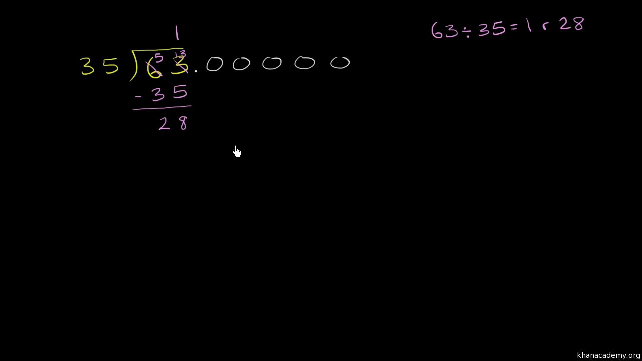Dividing a whole number by a decimal video khan academy ccuart Gallery