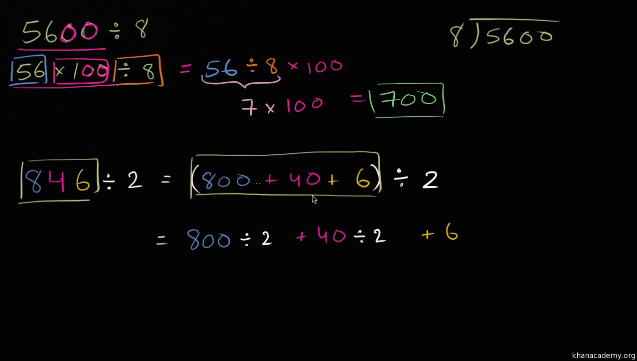 Division using place value video khan academy falaconquin