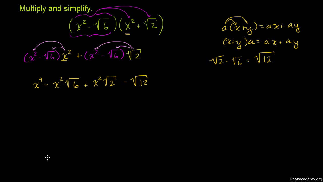 Multiplying Binomials By Polynomials Old Video Khan Academy