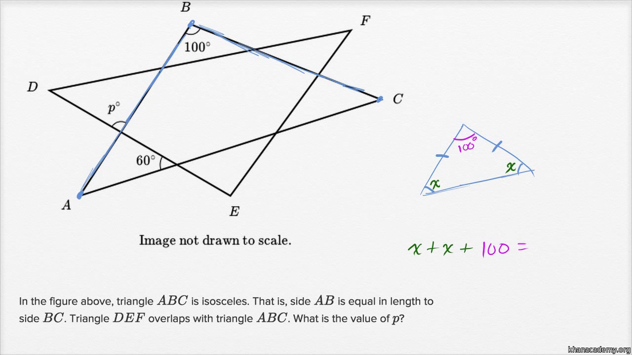 Circle theorems basic example video khan academy hexwebz Gallery