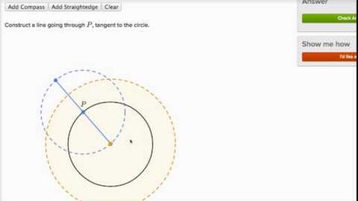 Geometric Constructions Circle Tangent Video Khan Academy