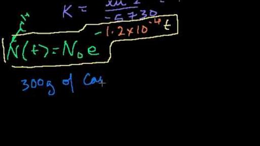 Wykładnicze równanie datowania węgla