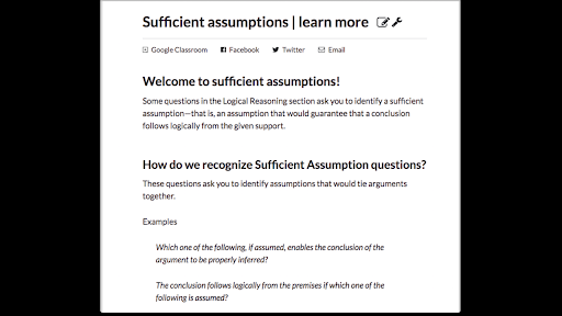 Sufficient assumptions   learn more (article)   Khan Academy