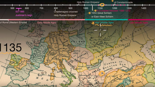 14th Century Map Of Europe.Overview Of The Middle Ages Video Khan Academy
