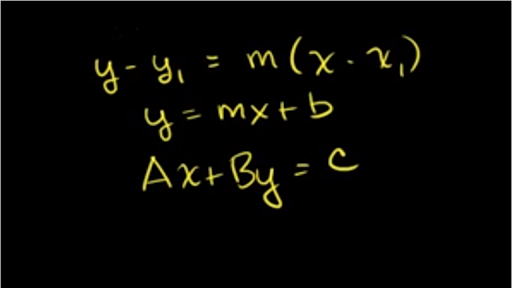 point slope form khan academy  Writing linear equations in all forms