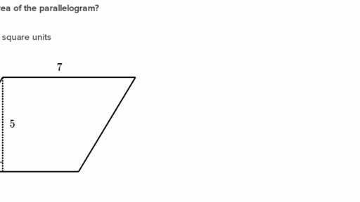10-3 area of parallelograms problem solving
