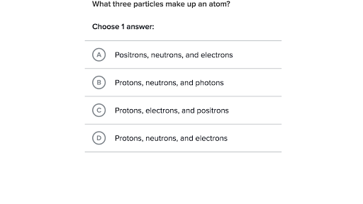 Atomic Structure Practice Khan Academy