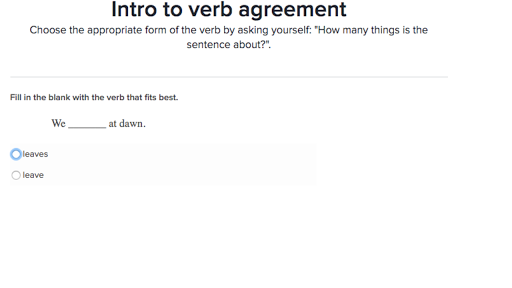 Intro To Verb Agreement Practice Khan Academy
