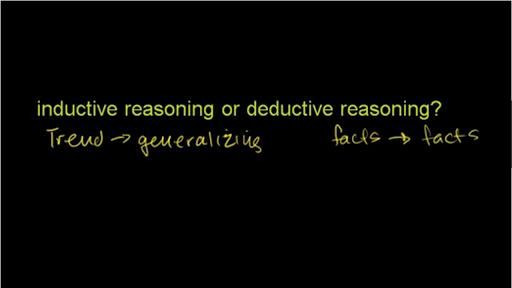 Inductive & deductive reasoning (video)   Khan Academy