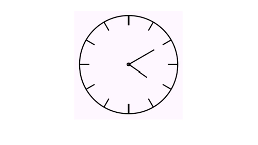 Telling time (unlabeled clock)