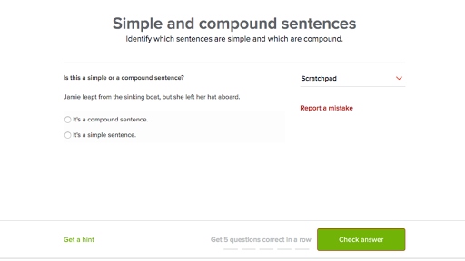 Simple and compound sentences (practice) | Khan Academy