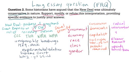 Ap Us History Long Essay Example  Video  Khan Academy Current Timetotal Duration