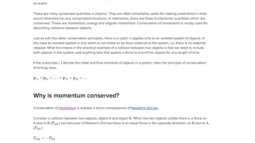 What Is Conservation Of Momentum Article Khan Academy