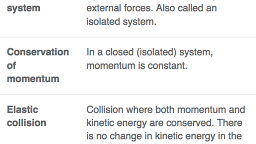 Elastic Collisions Review Article Khan Academy