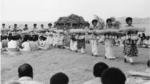 Presentation Of Fijian Mats And Tapa Cloths To Queen