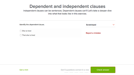 dependent and independent clauses (video) | khan academy