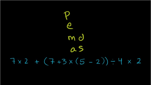 Worked example: Order of operations (PEMDAS)