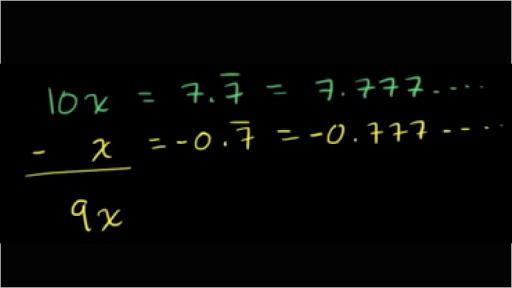 Converting repeating decimals to fractions (part 1 of 2) (video) | Khan  Academy