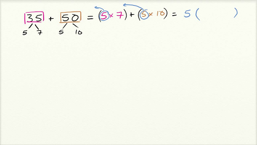 Factor with the distributive property (video) | Khan Academy