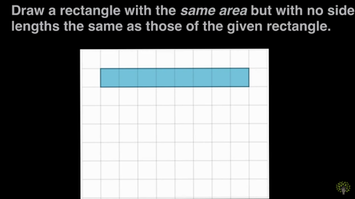 blue rectangular designs creating rectangles with a given area 2 video khan academy