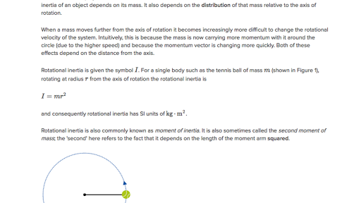 rotational inertia  article