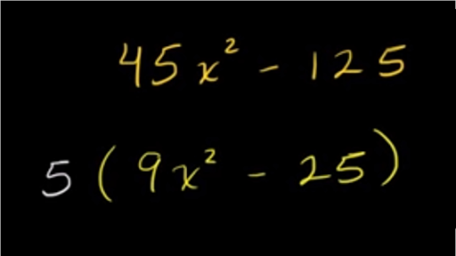 Factoring Difference Of Squares Leading Coefficient 1 Video