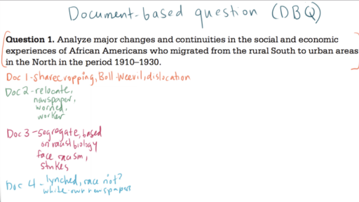 Ap Us History Dbq Example  Video  Khan Academy Current Timetotal Duration
