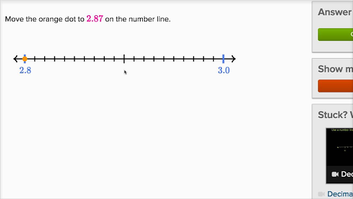 Plotting Decimal Numbers On A Number Line Video Khan Academy