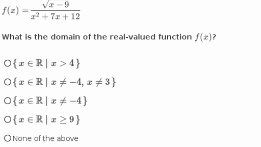 Domain Of Advanced Functions Practice Khan Academy