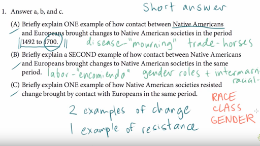 Ap Us History Short Answer Example  Video  Khan Academy Current Timetotal Duration